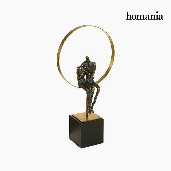 xekios Figurine Décorative Résine Or Noir (26 x 14 x 52 cm) by Homania