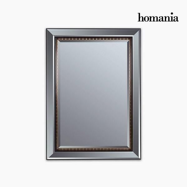 xekios Miroir Résine synthétique Vere biseauté Noir Or (80 x 4 x 110 cm) by Homania