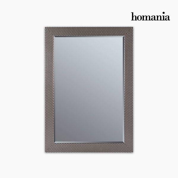 xekios Miroir Résine synthétique Vere biseauté Argent (76 x 2,5 x 106 cm) by Homania