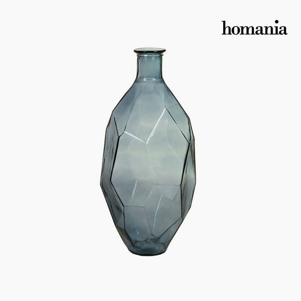 xekios Vase en Verre Recyclé (29 x 29 x 59 cm) - Collection Pure Crystal Deco by Homania