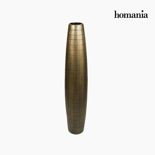 xekios Vase de sol Céramique Or (19 x 19 x 100 cm) by Homania