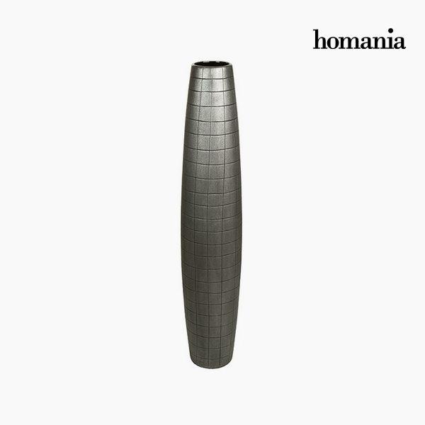 xekios Vase de sol Céramique Argent (19 x 19 x 100 cm) by Homania