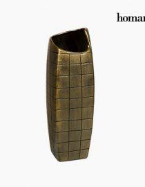xekios Vase Céramique Argent (11 x 11 x 33 cm) by Homania