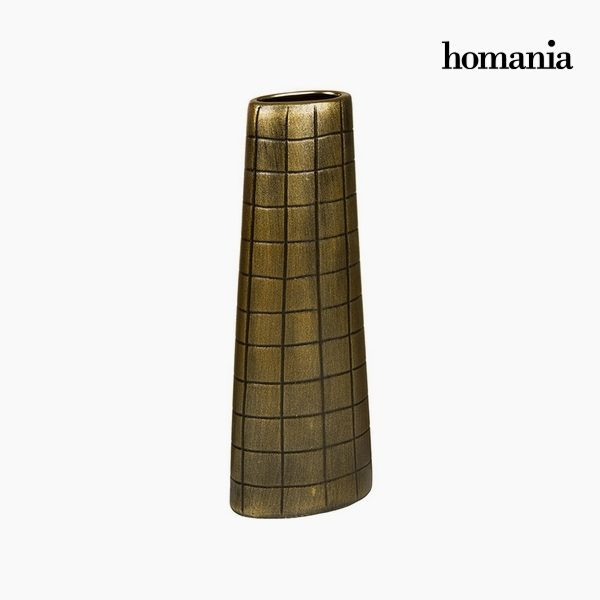 xekios Vase Céramique Or (17 x 9 x 44 cm) by Homania