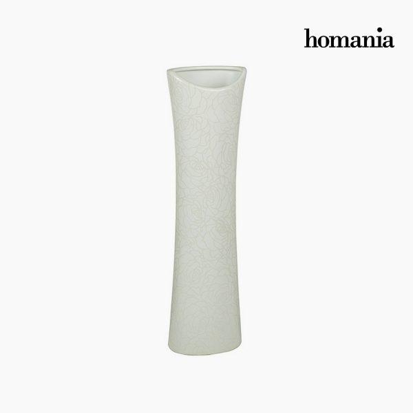 xekios Vase Céramique Blanc (14 x 9 x 49 cm) by Homania