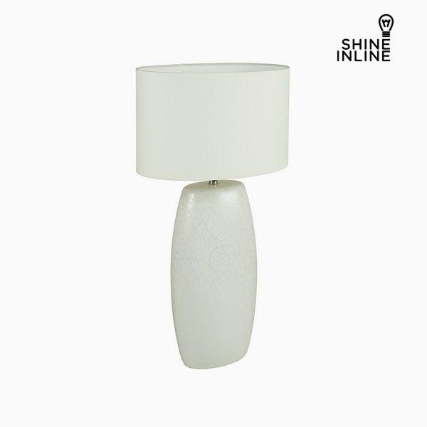 xekios Lampe de bureau Blanc Céramique (16 x 11 x 31 cm) by Shine Inline