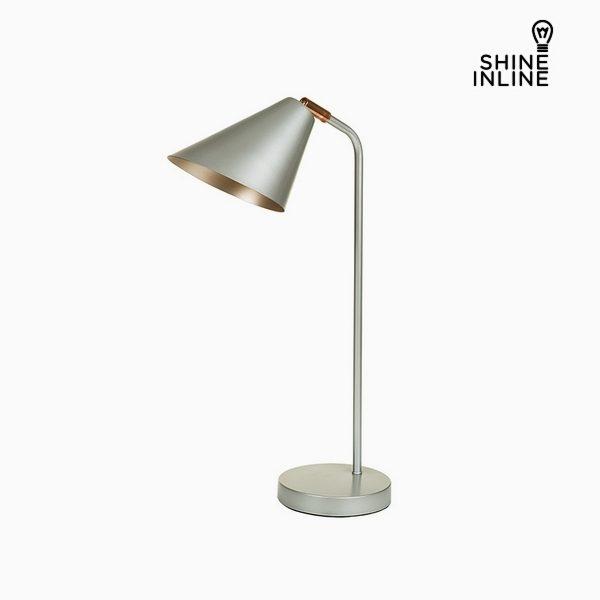 xekios Lampe de bureau Argent Aluminium (30 x 16 x 53 cm) by Shine Inline