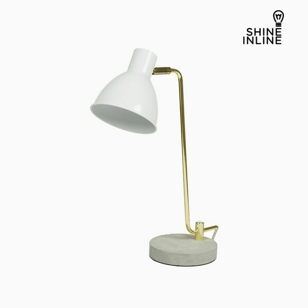 xekios Lampe de bureau Blanc Aluminium Béton (30 x 15 x 46 cm) by Shine Inline