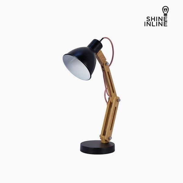 xekios Lampe de bureau Noir Bois de hêtre Aluminium (35 x 15 x 41 cm) by Shine Inline