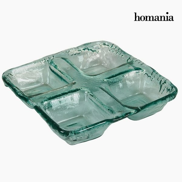 xekios Pièce centrale en verre recyclé Verre (27 x 27 x 6 cm) by Homania
