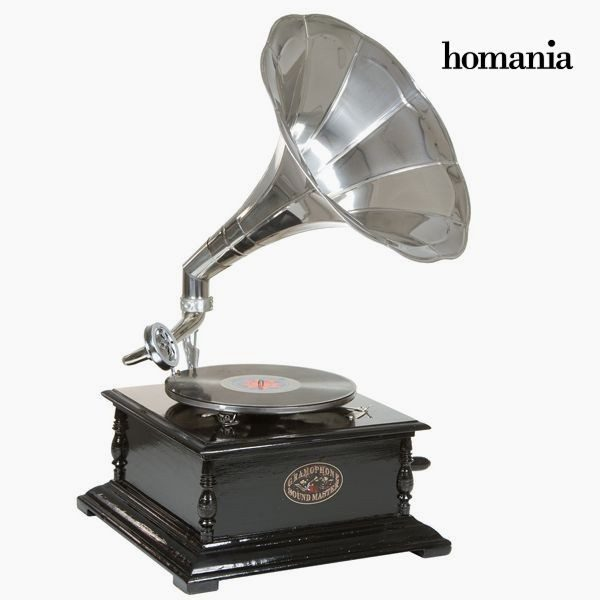 xekios gramophone Carré Noir Argent - Collection Old Style by Homania