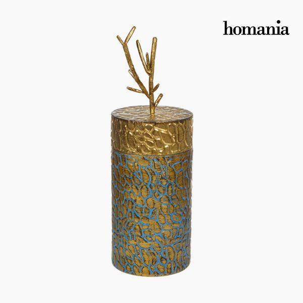 xekios Boîte avec Couvercle Métal Doré by Homania