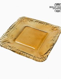 xekios Bol en Verre Recyclé Ambre (37 x 37 x 20 cm) - Collection Pure Crystal Deco by Bravissima Kitchen