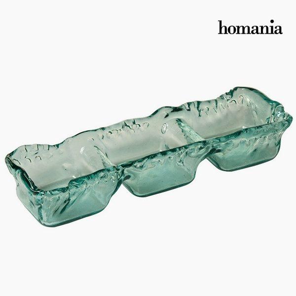 xekios Pièce centrale en verre recyclé Verre recyclé (38 x 13 x 10 cm) by Homania