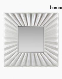 xekios Miroir Résine synthétique Vere biseauté Blanc (92 x 4 x 92 cm) by Homania