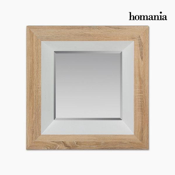 xekios Miroir Dm Vere biseauté Bois Blanc (67 x 7 x 67 cm) by Homania