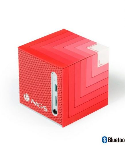 xekios Haut-parleurs bluetooth portables NGS ROLLERCUBE 5W Micro SD Rouge