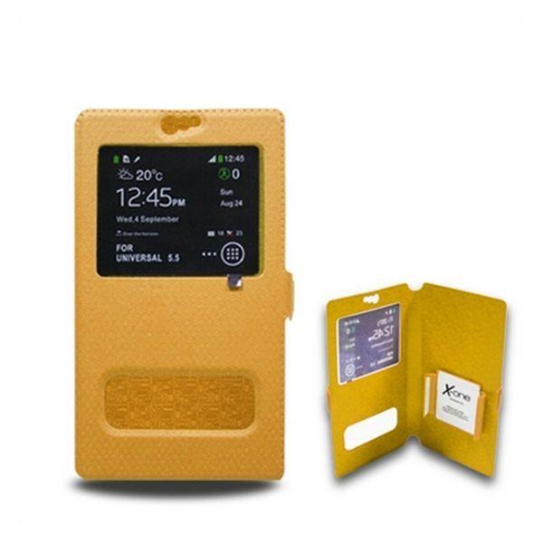 xekios Housse Universelle pour Mobile avec Fenêtre Ref. 106740 Taille S Orange