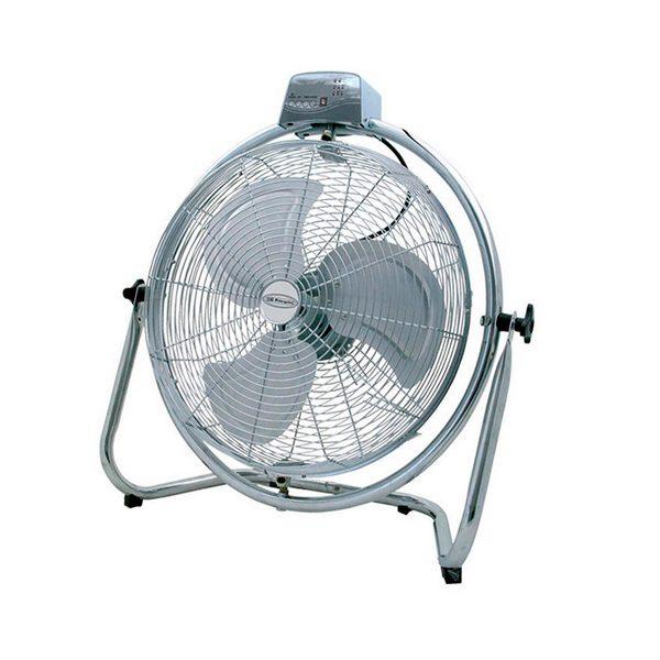 xekios Ventilateur de Sol Obergozo PWO1952 130W Acier inoxydable