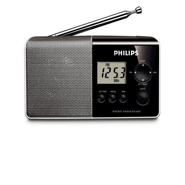 xekios Radio numérique portable Philips AE1850/00 MW/FM Noir