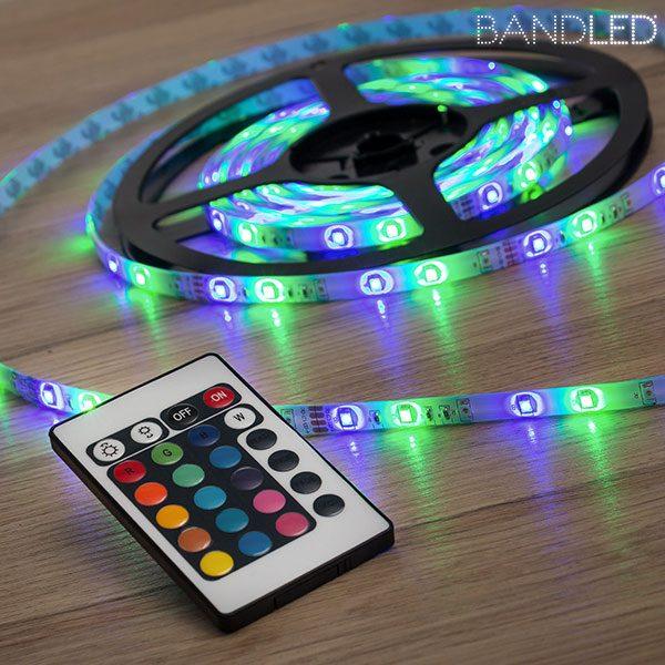 xekios Bande LED Multicolore BandLed pour Intérieurs et Extérieurs (5 m + 60 LED)