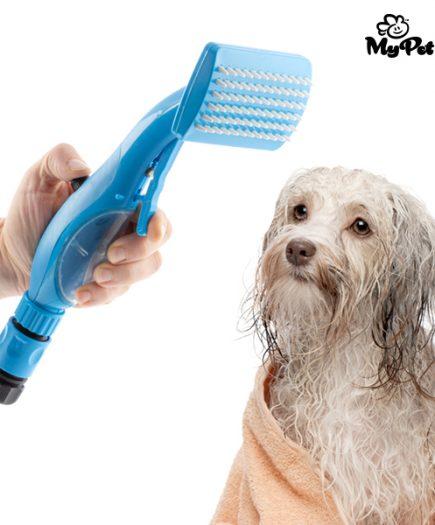 xekios Douchette-Brosse pour Animaux Domestiques My Pet Brush
