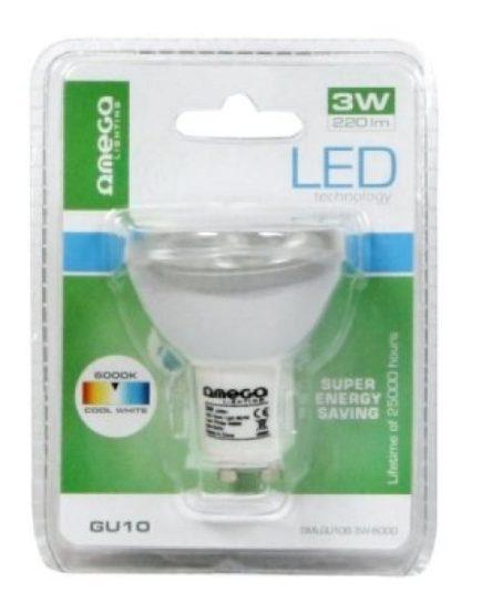 xekios Ampoule Dichroïque Omega GU10 3W 220 lm 6000 K Lumière blanche