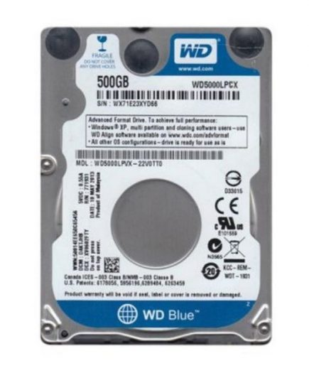xekios Disque dur Western Digital Blue WD5000LPCX 2.5 500 GB Sata III 5400 rpm Buffer 8 MB