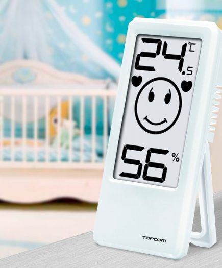 xekios Thermomètre-Hygromètre d'Intérieur TopCom TH4675