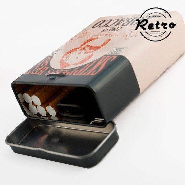xekios Étui à cigarettes métallique Rétro
