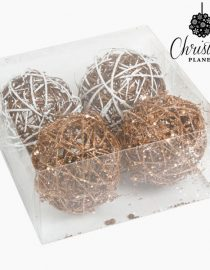 xekios Boules de Noël Blanc Or (4 pcs) by Christmas Planet