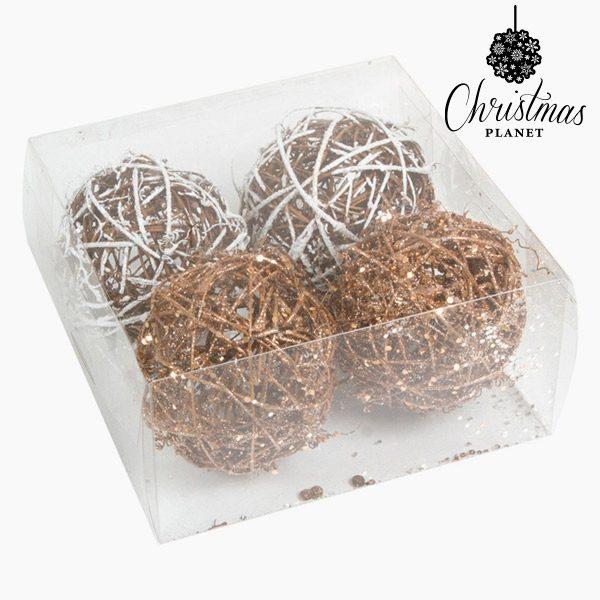 xekios Boules de Noël Blanc Or (4 pcs) by Christmas Planet