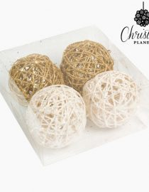 xekios Boules de Noël Blanc Or Champagne (6 pcs) by Christmas Planet