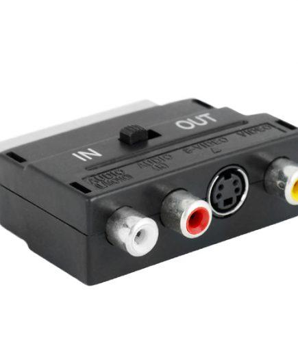 xekios Adaptateur Euroconnecteur vers RCA/S-Vidéo iggual PSICCV-4415 Noir
