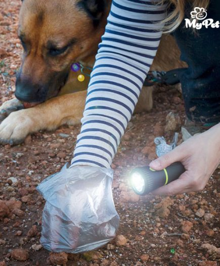 xekios Lampe Torche avec Porte-sac Ramasse Crottes MyPet Poop Lantern