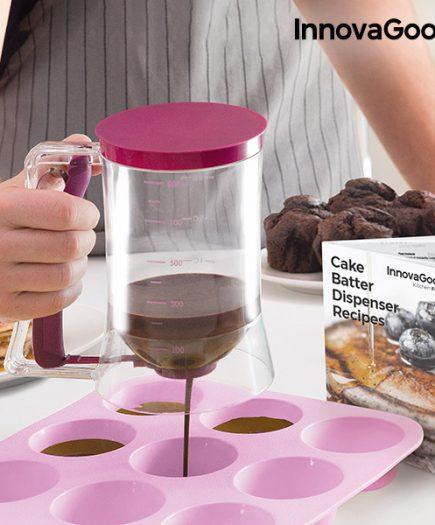 xekios Carafe Distributrice de Pâte à Pâtisserie avec Livre de Recettes InnovaGoods