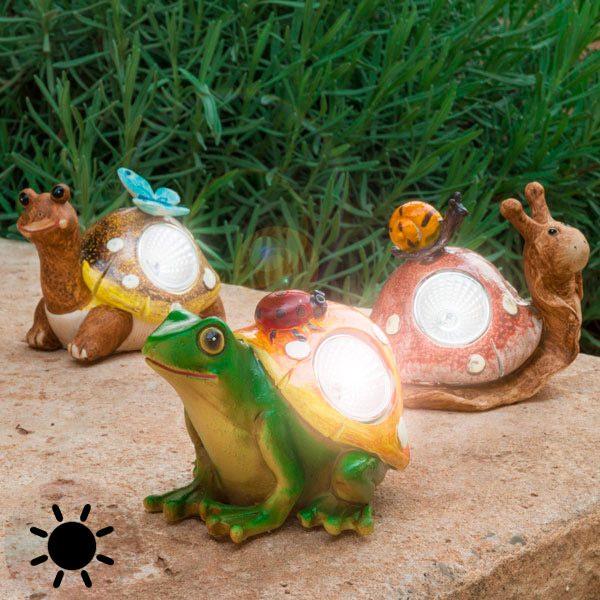 xekios Figurine Solaire Décorative de Jardin