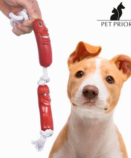 xekios Corde avec Saucisses pour Chien Pet Prior