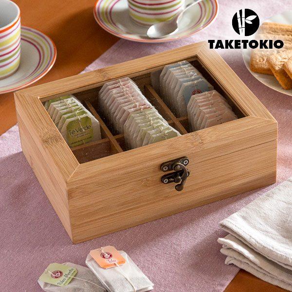 xekios Boîte à Thé en Bambou TakeTokio
