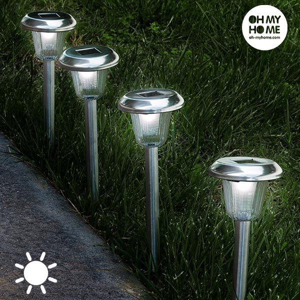 xekios Torche Lumière Solaire Circulaire Oh My Home (Pack de 4)