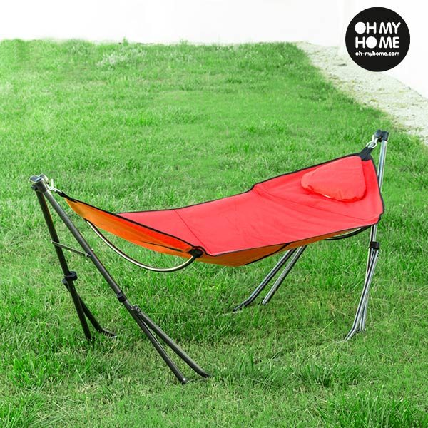 xekios Hamac Pliable avec Support Rouge Oh My Home