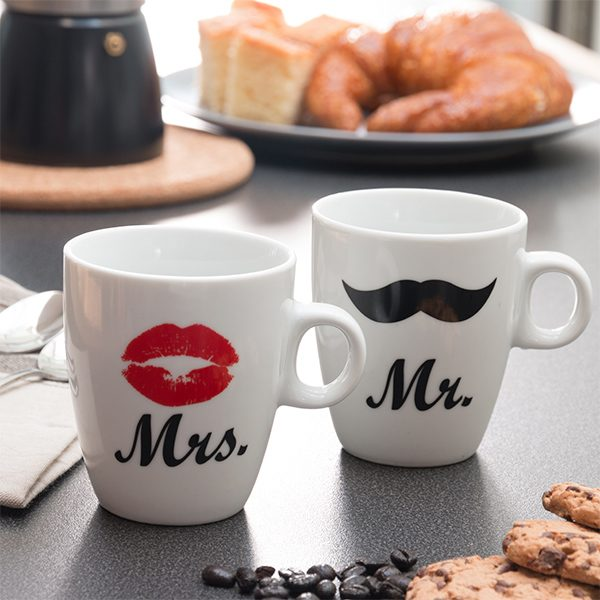 xekios Tasses individuelles Mr & Mrs
