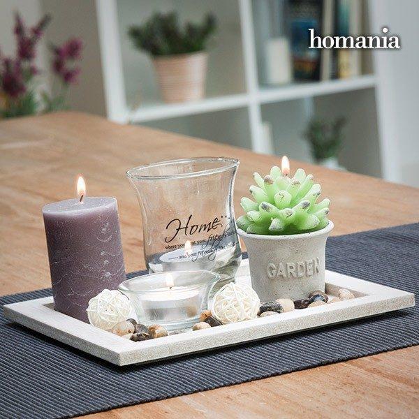 xekios Centre de Table Candles & Garden Homania