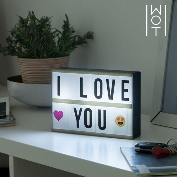 xekios Panneau LED rétro-éclairé Wagon Trend (21 x 15 cm)