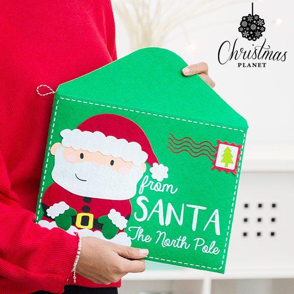 xekios Enveloppe de Noël de Père Noël Christmas Planet