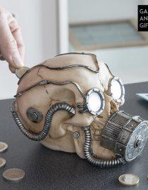 xekios Tirelire Crâne Pirate avec Écouteurs Gadget and Gifts