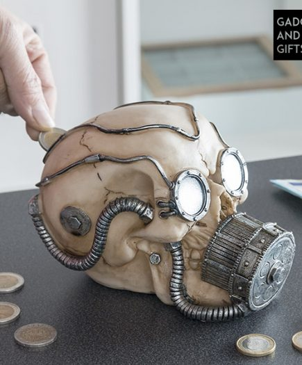 xekios Tirelire Crâne avec Masque à Gaz Gadget and Gifts