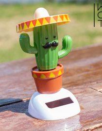 xekios Cactus Décoratif en Bois Wagon Trend (7 LED)