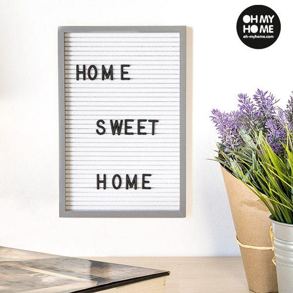 xekios Tableau pour Chiffres et Lettres Oh My Home (16 x 22 cm)
