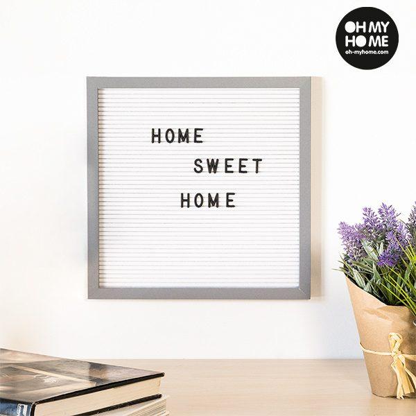 xekios Tableau pour Chiffres et Lettres Oh My Home (30 x 30 cm)